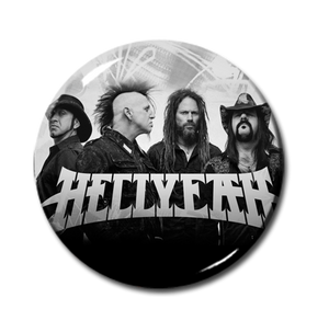 "Hellyeah - Promo Pic Logo 1"" Pin"