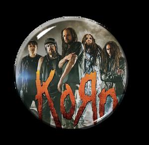 """Korn - Promo Pic Logo 1"""" Pin"""