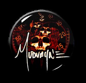 """Mudvayne - Skulls & Speedometer 1"""" Pin"""