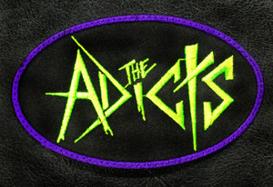 """The Adicts - Logo 4x2.5"""" Embroidered Patch"""