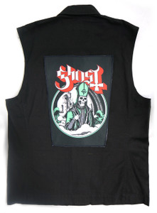 """Go Rocker - Ghost Pope 13.5"""" x 10.5"""" Color Backpatch"""