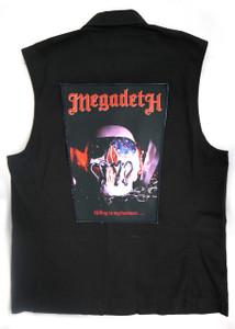 "Go Rocker - Megadeth Killing Is My Business 13.5"" x 10.25"" Color Backpatch"