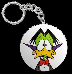 """Count Duckula 1.5"""" Keychain"""