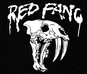 "Red Fang Skull 5x5"" Printed Patch"