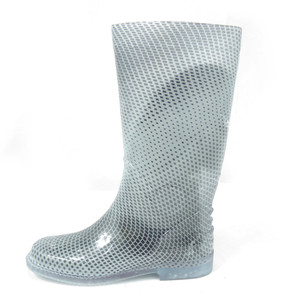 Panam - White and Grey Women's Rain Boots