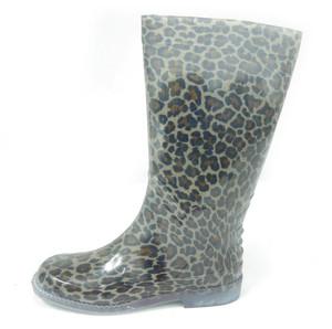 Panam - Black Leopard Women's Rain Boots