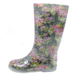 Panam - Flower Pattern Women's Rain Boots