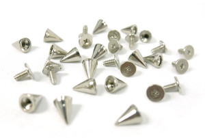 Chromed Spike and Bolt 20 pieces