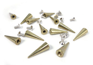 Gold Tall Spike and Bolt 20 pieces
