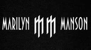 "Marilyn Manson MM Logo 6x3"" Printed Patch"