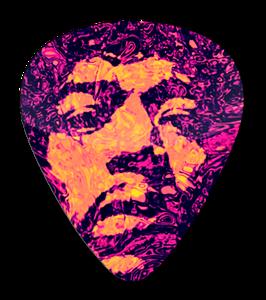 Jimi Hendryx - Psychodelic Face Standard Guitar Pick