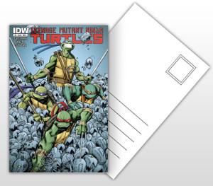 Teenage Mutant Ninja Turtles vs Mousers Comic Cover Postal Card