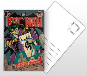 Batman The Joker's Back in Town Comic Cover Postal Card