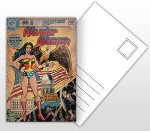 Wonder Woman and The Huntress Comic Cover Postal Card