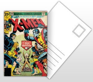 X-Men - 100th Issue  Comic Cover Postal Card
