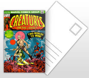 Marvel - Creatures on the Loose! Comic Cover Postal Card