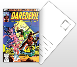 Daredevil The Man Without Fear Comic Cover Postal Card
