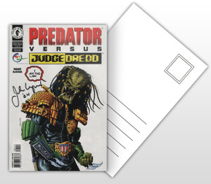Predator VS Judge Dredd Comic Cover Postal Card