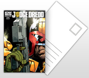 Judge Dredd Comic Cover Postal Card