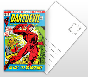 Daredevil At Last The Assassin Comic Cover Postal Card