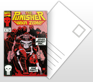 The Punisher War Zone Comic Cover Postal Card