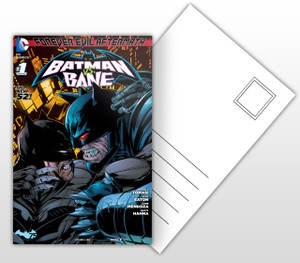 Batman vs Bane Comic Cover Postal Card
