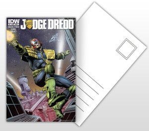 Judge Dredd #1 Comic Cover Postal Card