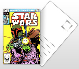 Star Wars Boba Fett Comic Cover Postal Card