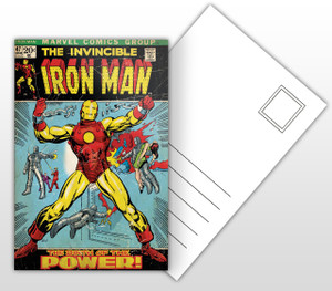 The Invincible Iron Man The Birth of the Power Comic Cover Postal Card