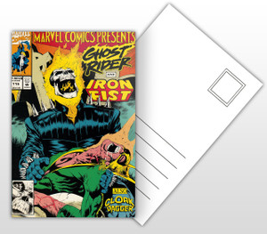 Ghost Rider - and Iron Fist Comic Cover Postal Card