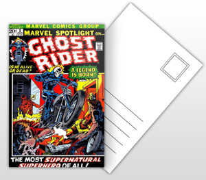 Ghost Rider - A Legend is Born! Comic Cover Postal Card