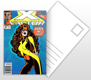 X-Factor Judgement War Part 5 Comic Cover Postal Card