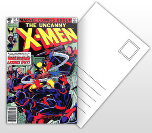 The Uncanny X-Men Wolverine Lashes Out! Comic Postal Postal Card
