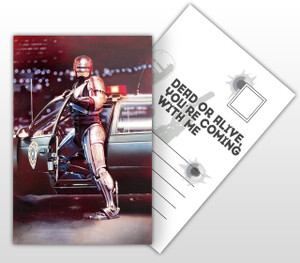 Robocop Movie Poster Postal Card