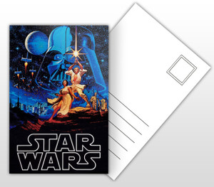 Star Wars A New Hope Movie Poster Postal Card