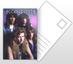 Megadeth Band Picture Postal Card