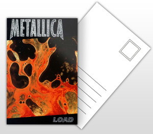 Metallica Load Album Cover Postal Card