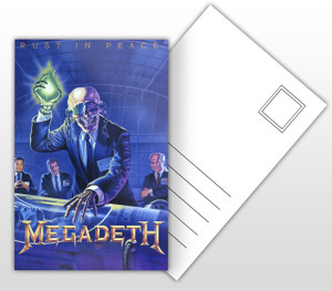 Megadeth Rust in Peace Album Cover Postal Card