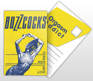 Buzzcocks Orgasm Addict Album Cover Postal Card