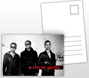 Depeche Mode Band Picture Postal Card