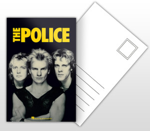 The Police Band Picture Postal Card
