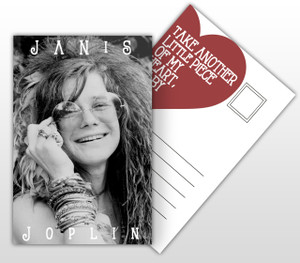 Janis Joplin Take Another Little Piece of my Heart Album Cover Postal Card
