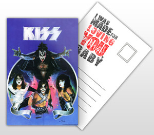 KISS I Was Made For Loving You, Baby Album Cover Postal Card