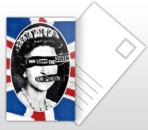 Sex Pistols God Save The Queen Album Cover Postal Card