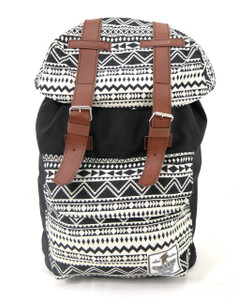 Tevha Supplies - Black and Greca Pattern Old Boy Backpack