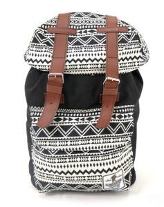 Tevha Supplies - Black and Greca Pattern Old Boy Backpack