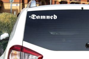 "Damned - Logo 7.5x1.25"" Vinyl Cut Sticker"
