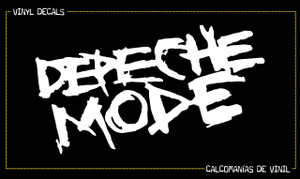 "Depeche Mode Shalk Logo 7x4"" Vinyl Cut Sticker"