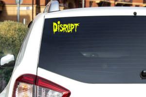 "Disrupt Logo 6x3.5"" Vinyl Cut Sticker"