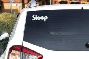 """Sleep Logo 7x3"""" Vinyl Cut Sticker"""